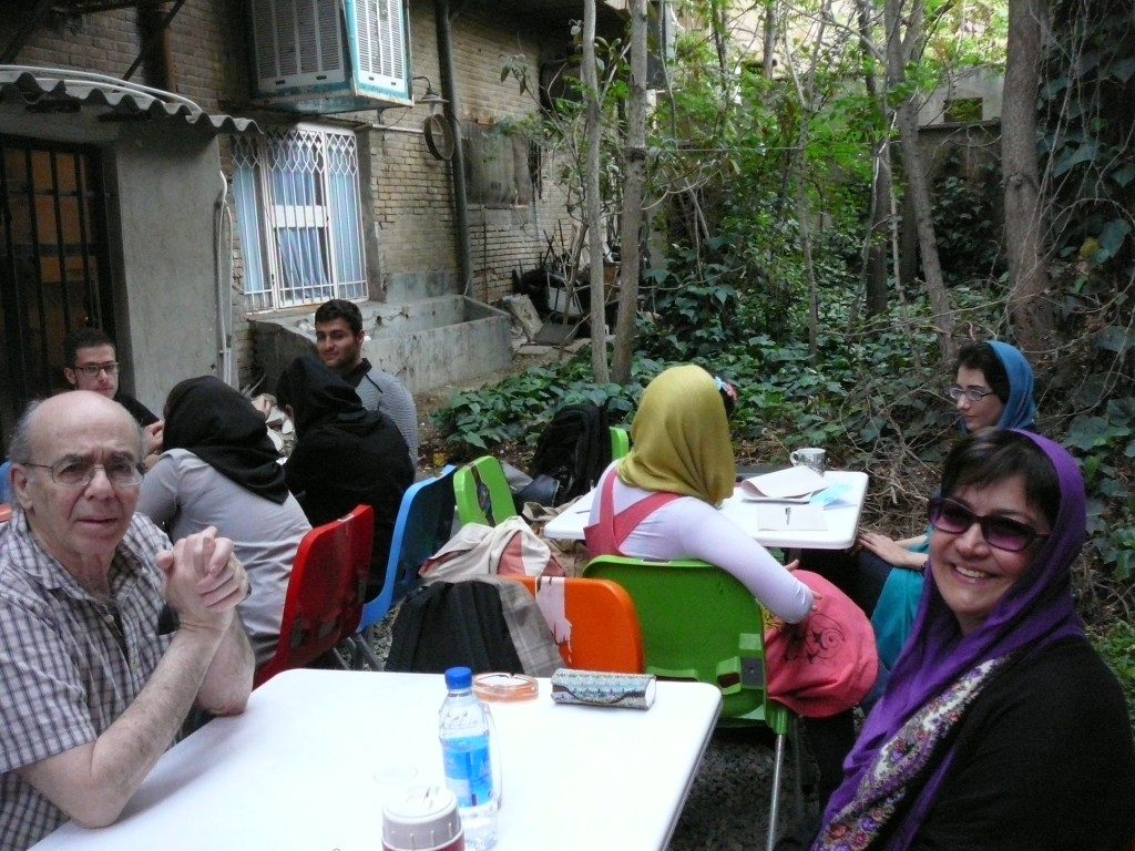 Iran Full of Lots of Friendly People - Nahdereh (nickname, Nahdi on the right), who stayed with us the entire trip