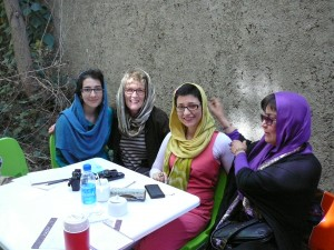 Young Iranian Women with Pat and our guide Nahdi