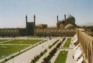 Esfahan, Meidan-e Emam, Masjed-e Emam from Ali Qapu