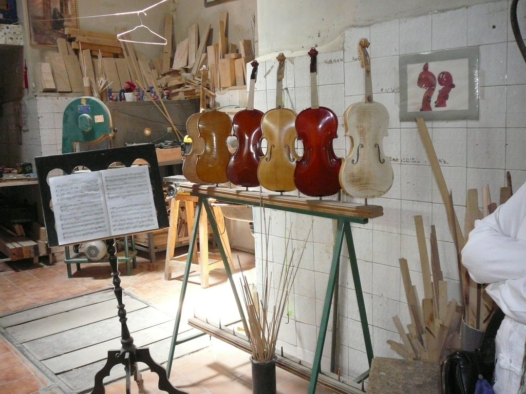 Woman Violin Maker in Yazd Iran